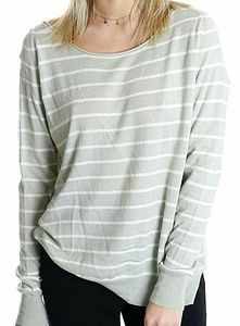 Joie | Emari Striped Sweater Gray Boat neck S